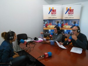 Andrés Maestre y Asunción Niñoles han hecho el Informativo UMH desde el Campus de Sant Joan d´Alacant