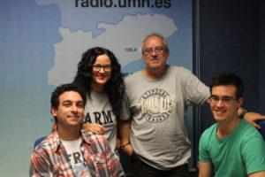 Javier Castro, Zora Esteve, Paco Bernabéu y Asier Moneva en el Programa Crímina