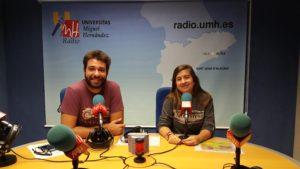 Cristian Barrionuevo y Paula Vera en Súbete a la Radio UMH