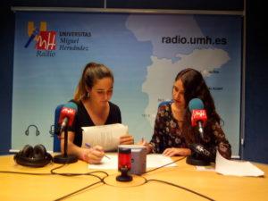 Eulalia Gallego e Itziar Martínez en Informativos UMH